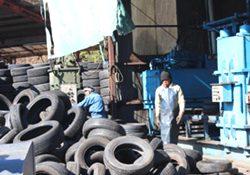 廃タイヤ処理の流れ 中間処理